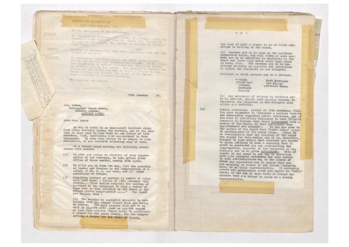 Letter to Rev. Ruben