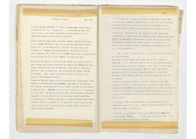 Hobart Hebrew Congregation 1953 Annual Report