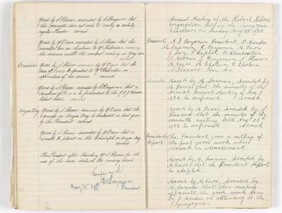 Meeting Minute Original Page, 4 April 1933 - 28 May 1933