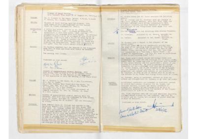 Hobart Hebrew Congregation Meeting Minutes, 13 March 1956