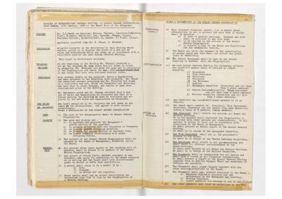 Hobart Hebrew Congregation Meeting Minutes, 19 January 1958
