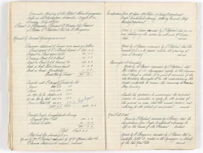Meeting Minute Original Page, 28 August 1932
