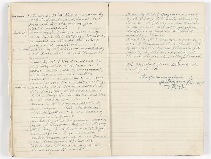 Meeting Minute Original Page, 31 May 1931