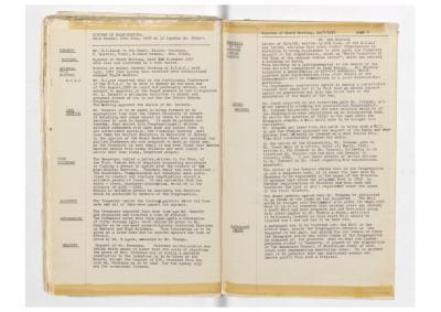 Hobart Hebrew Congregation Meeting Minutes, 20 July 1958
