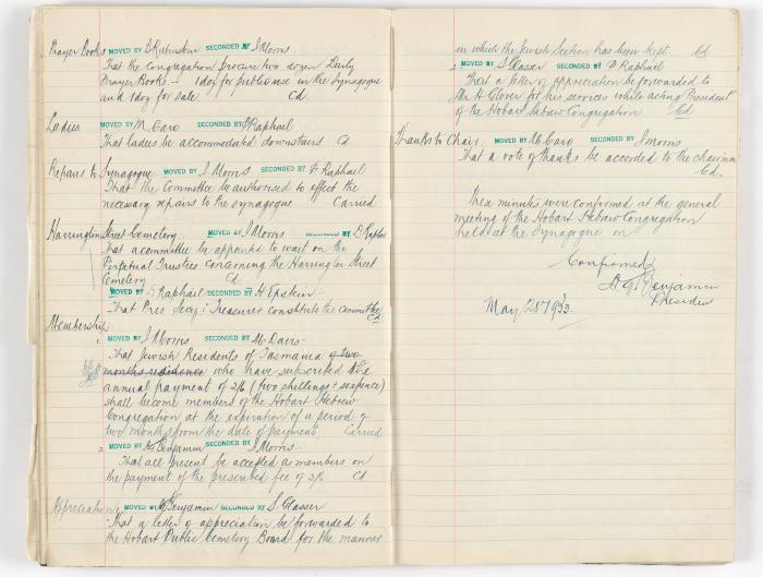 Meeting Minute Original Page, 8 May 1932