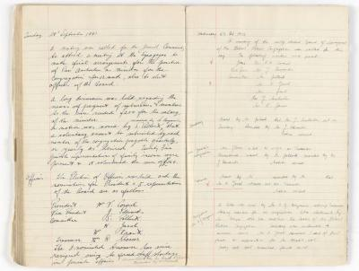 Meeting Minute Original Page, 28 September 1943 - 6 October 1943