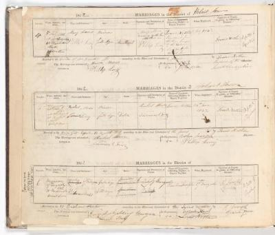 Marriage Register January 1841 to August 1842