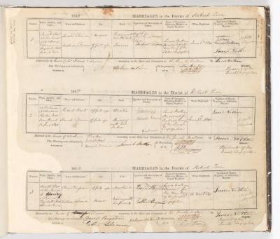 Marriage Register June 1840 to December 1840