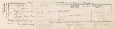 Lewis Solomon & Esther Davis marriage record