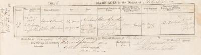 Edward Francke & Esther Rheuben marriage record