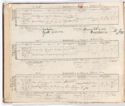 Marriage Register October 1844 to June 1846