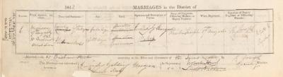 Phineas Moss & Emily Golding Morgan wedding record
