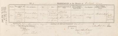 Morrice Cohen & Julia Hort marriage record