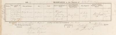 Philip Davis & Rebecca Hyams marriage record