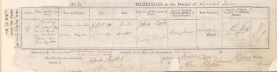 Joshua Marks & Esther Marks marriage record