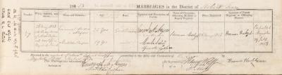 Emanuel Moses Myers & Matilda Casper marriage record