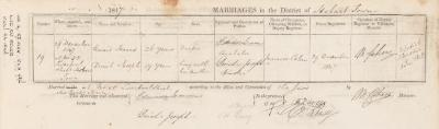 Edward Isaacs & Dinah Joseph marriage record