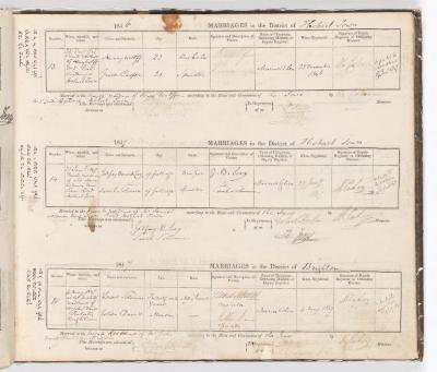 Marriage Register July 1846 to May 1847