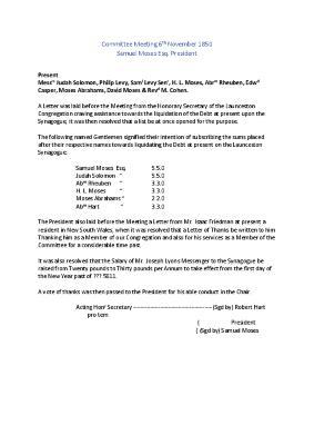 Meeting Minutes Transcription, 6 November 1850