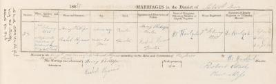 Henry Phillips & Rachel Hyams marriage record