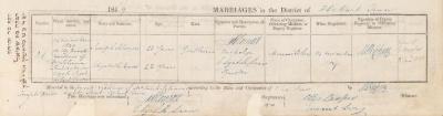 Joseph Solomon & Elizabeth Davis marriage record