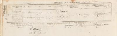 Emanuel Karney & Clara Goldsmith marriage record