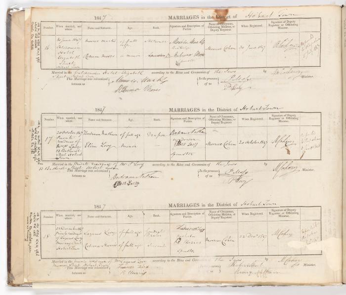 Marriage Register June 1847 to December 1847