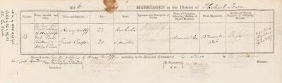 Henry Wolff & Grace Casper marriage record