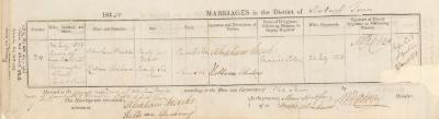 Abraham Marks & Rebecca Abraham marriage record