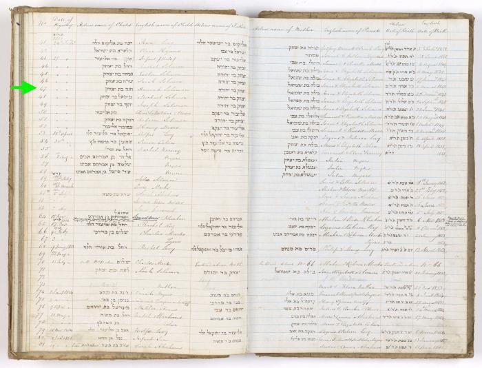Hannah Solomon birth record