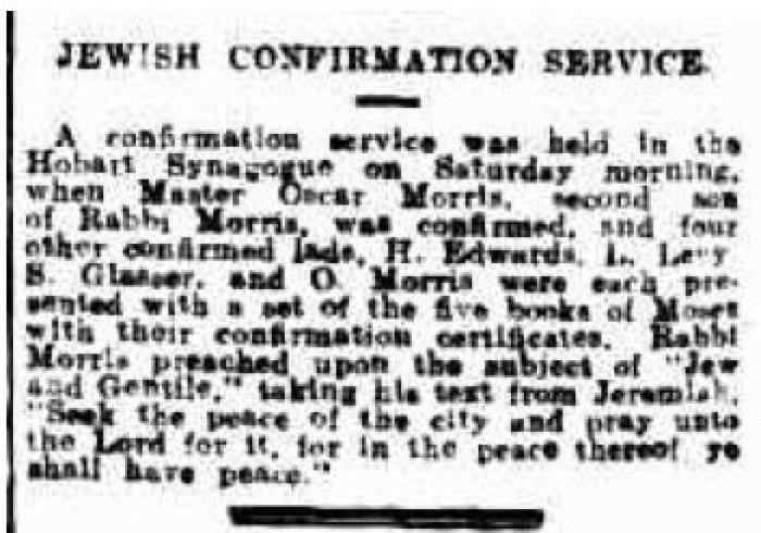 Jewish Confirmation Service