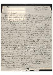 Letter from Samuel Benjamin to Henry Ansell