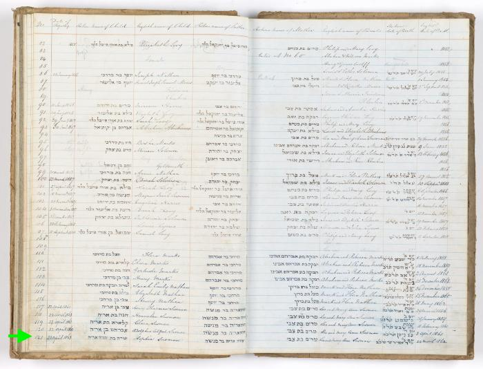 Sophia Susman birth record
