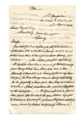 Letter from Henry Ansell to Simeon Frankel