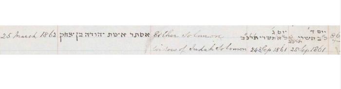 Esther Solomon death record