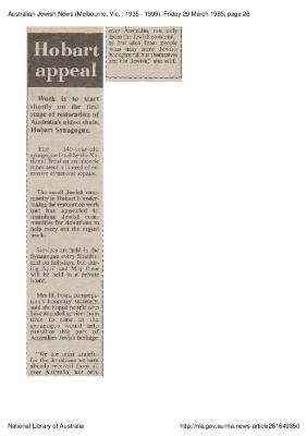 Hobart appeal
