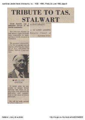 Tribute to TAS Stalwart