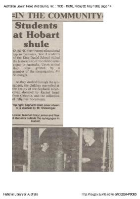 In the community:  Students at Hobart shule