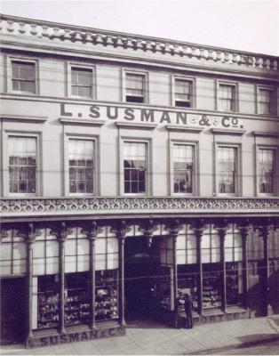Photo of Leo Susman's shop