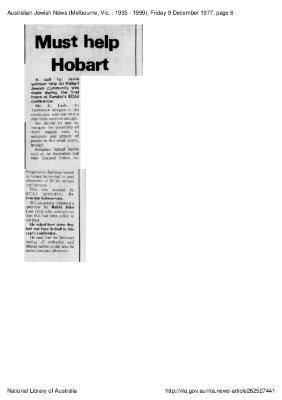 Must help Hobart