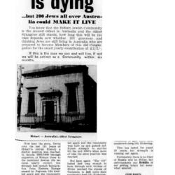 Oldest Synagogue in Australia is dying