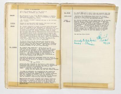 Hobart Hebrew Congregation Meeting Minutes, 19 November 1953