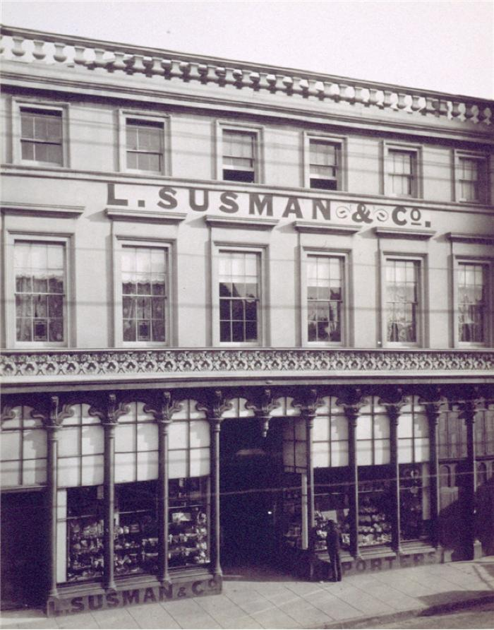 Photo of Leo Susman's shop