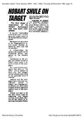 Hobart shule on target