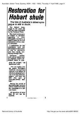 Restoration for Hobart shule