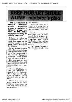 Keep Hobart Shule alive - Minister's plea