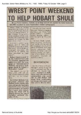 Wrest Point weekend to help Hobart shule