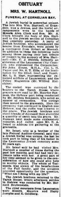 Obituary: Mrs. W. Hartnoll