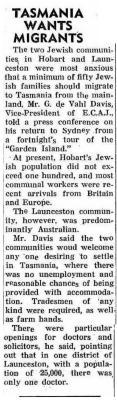 Tasmania wants migrants