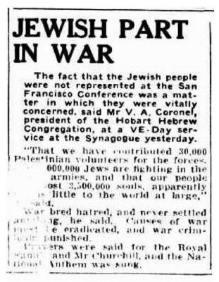 Jewish part in war